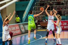 Żeńskie koszykówek rywalizacje Zdjęcia Royalty Free
