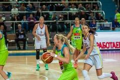 Żeńskie koszykówek rywalizacje Zdjęcie Stock