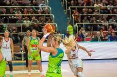 Żeńskie koszykówek rywalizacje Zdjęcie Royalty Free