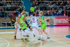 Żeńskie koszykówek rywalizacje Obraz Stock