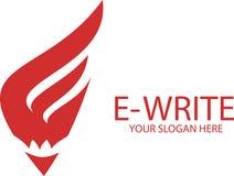 E-skriv logoen - e-bokstav Royaltyfri Bild