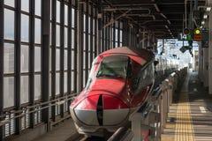 E6 sluitende de neusdekking van de Reeksultrasnelle trein Stock Fotografie