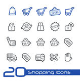 E-Sopping Icons // BLine Series Royalty Free Stock Image