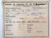 E spanish cywilna wojna obrazy stock