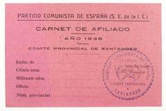 E spanish cywilna wojna zdjęcie royalty free