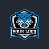 E-sport logo tiger Vector illustrations stock illustration