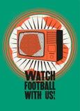 E Sporta baru rocznika stylu typograficzny plakat retro ilustracyjny wektora Fotografia Stock