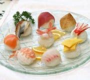 E squisiti studio contenuto sushi pronti Fotografia Stock