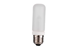 E27 Strobes light-bulb straight isolated on white background Royalty Free Stock Images