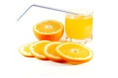 E sumo de laranja Imagem de Stock