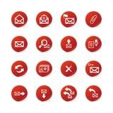 e-symboler postar den röda etiketten Royaltyfria Bilder