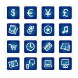 e-symboler shoppar stock illustrationer