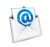 e-symbolspost Royaltyfri Bild