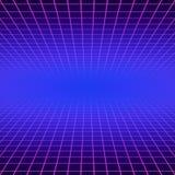 E Synthwave 80s opary laseru przestrzeni wektorowa gemowa plakatowa neonowa futurystyczna arkada royalty ilustracja