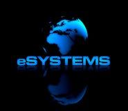 e-system royaltyfri illustrationer