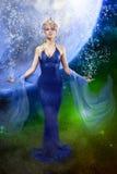 E.T. mulher no espaço fotos de stock royalty free