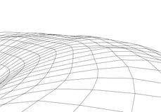 E T?nel del wireframe de Digitaces 3d rejilla del t?nel 3D Tecnolog?a cibern?tica de la red surrealism Vector abstracto del fondo ilustración del vector