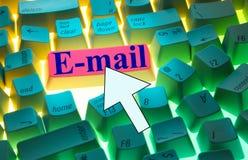 e-tangentbordpost Arkivfoton