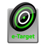 E-target advertisement icon. Vector illustration of e-target advertisement icon Stock Photos