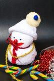 E Tarjeta de felicitación de Navidad fotografía de archivo libre de regalías