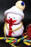 E Tarjeta de felicitación de Navidad imágenes de archivo libres de regalías
