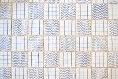 E Teste padrão da vista superior do assoalho de azulejos bonito mim fotos de stock royalty free