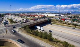25 e 58th avenidas de um estado a outro em Denver Imagens de Stock Royalty Free