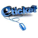 E-ticket in blue Stock Image