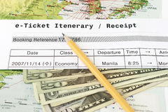 E-Ticket Itenerary Stock Images