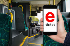 E-ticket for public transport Royalty Free Stock Photo