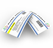E-Tickets for Air Travel Royalty Free Stock Images