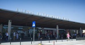 E tillträde till ankomster Cypern fotografering för bildbyråer