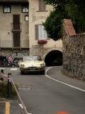 E-tipo de Jaguar en Bérgamo Grand Prix histórico 2015 Imágenes de archivo libres de regalías