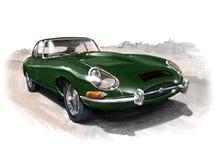 E-tipo de Jaguar (XKE) serie 1 Fotos de archivo