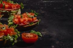 E Traditionele Italiaanse voorgerecht of snack, antipasto royalty-vrije stock fotografie