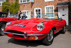 E-type sportscar Jaguar Royalty-vrije Stock Foto's
