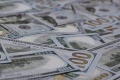 E.U. cem cédulas do dólar Imagens de Stock Royalty Free