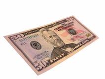 E.U. cinqüênta contas de dólar Imagem de Stock