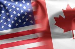 E.U. e Canadá Foto de Stock Royalty Free