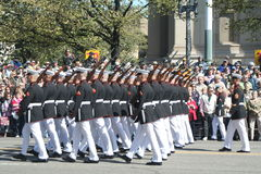 E.U. Marine Corp na parada Imagem de Stock Royalty Free