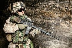 E.U. Marine Soldier fotografia de stock