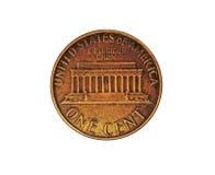 E.U. um centavo - moeda de um centavo Fotografia de Stock