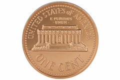 E.U. uma moeda do centavo - isolada Foto de Stock