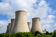 The E.ON UK power station at Ratcliffe-on-Soar cooling towers Stock Image