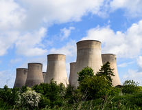 The E.ON UK power station at Ratcliffe-on-Soar cooling towers Royalty Free Stock Images