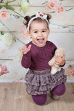 1 e um meio bebê dos anos de idade interno Imagem de Stock Royalty Free