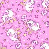 E unicorn Vector ilustración del vector