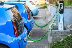 E-Up di Volkswagen dell'automobile elettrica Fotografia Stock Libera da Diritti
