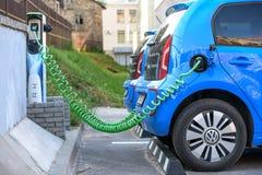 E-Up di Volkswagen dell'automobile elettrica Immagine Stock