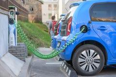 E-Up di Volkswagen dell'automobile elettrica Immagini Stock Libere da Diritti